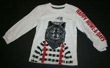 New Carter's Boys Happy Howl-A-Days Lumber Jack Wolf Top NWT 2t 3t 6 14 year