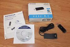 Netgear (WNA3100) N300 USB WiFi Network Adapter & Adapter Cradle Bundle **READ**