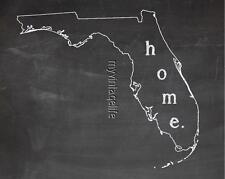 "FLORIDA  HOME STATE PRIDE 2"" x 3"" Fridge MAGNET CHALKBOARD CHALK COUNTRY"