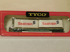 Rare * Seatrain * Trailers * on 50' Flat Car * Tyco Ho Scale Trains *Mint*