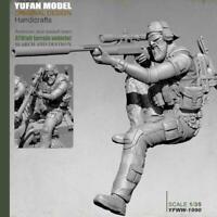 1:35 Soldat Standing Resin Man Modell Scharfschützenpistole Mould Shooter m J3H6