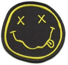 NIRVANA smiley face EMBROIDERED IRON-ON PATCH p4314 Free Ship nevermind in utero