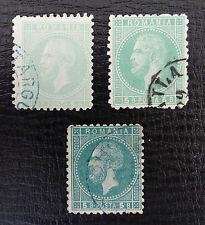 Rumänien Mi 50 a+aa+b , Sc 69 , Fürst Karl I - Bukarester II , Gestempelt