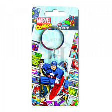 Marvel Captain America Premium Steel Licensed Keychain-Key Fob-Key Ring