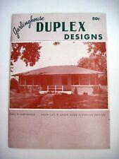 "594ms Haus Pläne Heft "" Garlinghouse Duplex Design CM Ext.pics & Boden Pläne"