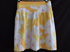 Tommy Jeans Skirt Yellow White Pink Floral Hawaiian Spring Summer Juniors size 7
