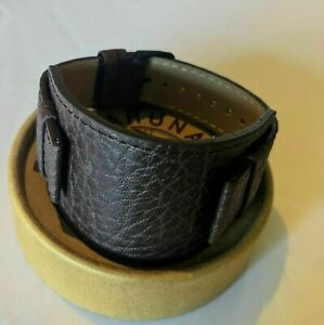 22mm  Kahuna Men's Genuine Leather Watch Strap  Wrist Cuff 2.5MM Thick/ Textured