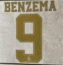 Flocage Nameset BENZEMA #9 Real Madrid 2019-2020 Domicile.