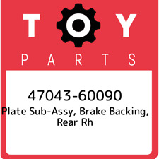 47043-60090 Toyota Plate sub-assy, brake backing, rear rh 4704360090, New Genuin
