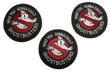 "Ghostbusters ""Who You Gonna Call?"" 3"" Diameter Iron On Patch Set of 3"