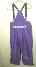 New Total Girl Girls size plus 14.5 14 1/2 Purple Snow bibs Ski pants Snowsuit