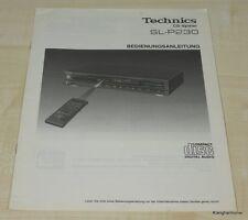 Technics sl-p230 manual de instrucciones en alemán