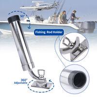 Boat Fishing Rod Holder 316 Stainless Steel Deck-Mount 306° Adjustable Rod Pod