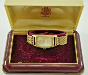 Vintage Gruen Curvex 10KGF Case Manual Wind 17J 440 Wrist Watch w/Box lot.15