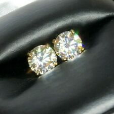 Solitaire Stud Earrings Screwback Certified D Color Vvs1 Moissanite