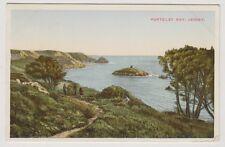 Jersey postcard - Portelet Bay, jersey - P/U (A79)