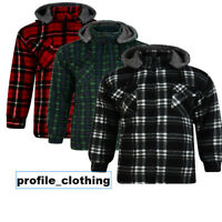 Lumberjack Sherpa Fur Fleece Lined Hoodie Hood Hooded Work Padded Shirt Hoody