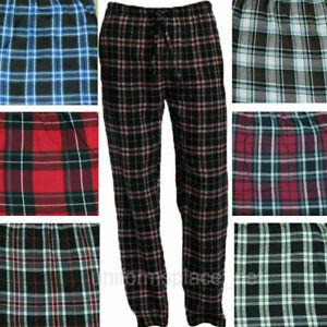 Mens Checked Woven Lounge Pants Pyjama Bottoms Pj's Pyjamas Sleepwear Cotton Mix