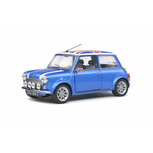 MINI COOPER SPORT diecast model car Fisherman blue 1997 1:18th SOLIDO 1800607