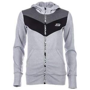 Skechers Womens Grey Marl Blakely Hoodie Hoody [SK866]