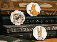 2016 3x50p PETER RABBIT COLLECTION RARE Fifty Pence UNCIRCULATED COINS COLOR SET