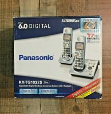 Panasonic KX-TG1032 Cordless Phone System DECT 6.0 with 2 Handsets In Retail Box
