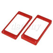 2 pcs Red ABS Arc-shaped Bottom Humbucker Pickup Mounting Ring Frames 90x45mm