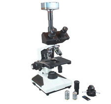 Medical Clinical Lab Trinocular Phase Contrast Microscope w 5Mp WIN MAC Camera