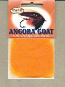 Angora Goat dubbing - fl orange AG503