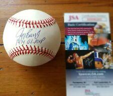 Jeff Burroughs signed official baseball 74 AL MVP JSA COA
