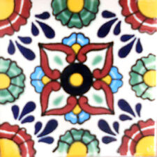 90 MEXICAN CERAMIC TILES WALL OR FLOOR USE CLAY TALAVERA MEXICO POTTERY #C090