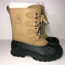 Kamik Alborg SZ 6 US Women's Winter Duck Boots Waterproof Lined Brown