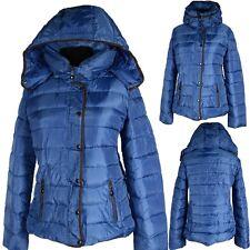 Giacca Inverno Parka cappotto caldo rivestimento interno cappuccio 40 M Anorak SCI BLU Stepper Nuovo