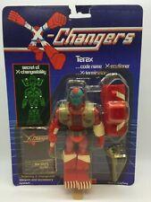 Vintage X-Changers Terax Action Figure Toy Complete MOC Acamas Toys 1980's