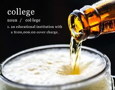 College Funny Beer Dictionary Dorm Room Motivational Poster Art Wall Decor WEB11
