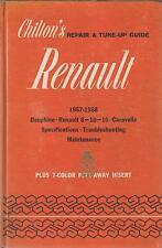 RENAULT Dauphine Gordini (inclusa) CARAVELLE 8 10 16 1957-68 RIPARAZIONE MANUALE PROPRIETARI