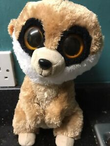 """Ty Beanie Boo 9"""" Rebel The Meerkat soft toy Used Rare / Retired may 19th 2012"""