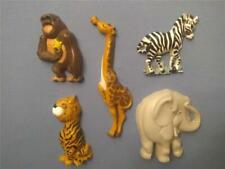 Home Interiors Homco Jungle Animal Wall Plaques