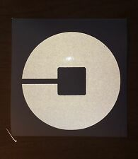 **REFLECTIVE** 3.5x3.5 NEW UBER vinyl STICKER sign Rideshare driver window lyft