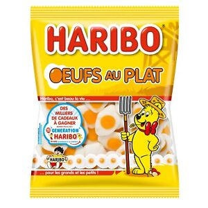HARIBO Fried Eggs European funny gummy bears 175g -FREE SHIPPING