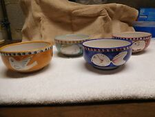 VIETRI BOWLS WITH ANIMAL DESIGNS GENTLY USED COLORFUL!