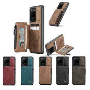 10pcs/lot Anti-theft Swipe Wallet Zipper Anti-fall Leather Back Case for Sam A72