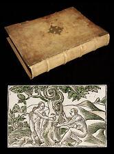 1548 ILLUSTRATED LATIN BIBLE Biblia Renaissance BINDING 100+ WOODCUTS Catholic