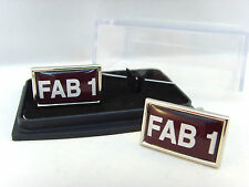 THUNDERBIRDS FAB 1 CAR NUMBER PLATE BADGE MENS CUFFLINKS GIFT