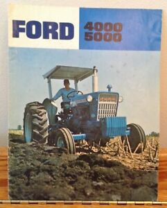 Ford Tractor 4000 5000 Tractor Color  Advertising Brochure AD-7313  107250