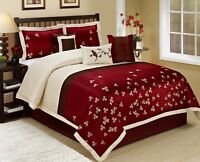7 Piece Vienna Embroideried Comforter Set Queen King CalKing Size