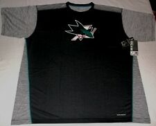 San Jose Sharks Crew Neck Cool Base Replica Jersey Shirt 2XL Black Majestic NHL