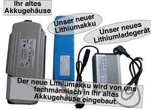 24V / 12AH Yamaha-Kynast Lithiumakku ( LiFe - LiFePo4 ) inkl. Einbau + Ladegerät