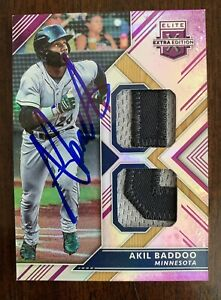 AKIL BADDOO Auto Signed 2018 ELITE EXTRA LOGO PATCH 17/25 In Person See Pics