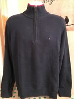Tommy Hilfiger Men's Blue Quarter Zip Sweater Size M